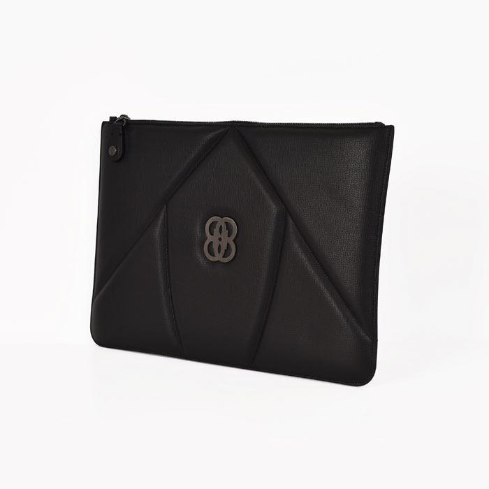 The 8 Collection Envelope Clutch - Black & Black